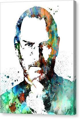 Steve Jobs Canvas Print by Watercolor Girl