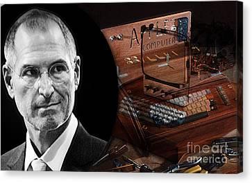 Steve Jobs Canvas Print by Marvin Blaine