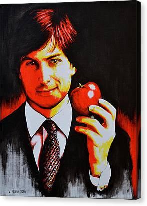 Steve Jobs Canvas Print by Victor Minca