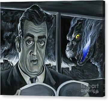 Caricature Canvas Print - Steve Martin's Impending Regret by Mark Tavares