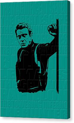 Steve Mcqueen Canvas Print by Andrew Fare