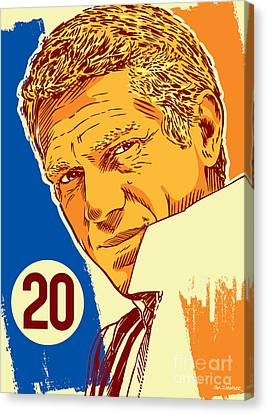 Steve Mcqueen Pop Art - 20 Canvas Print by Jim Zahniser