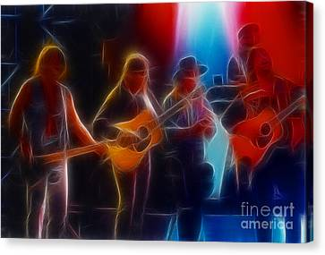 Steve Miller Band Fractal-1 Canvas Print by Gary Gingrich Galleries