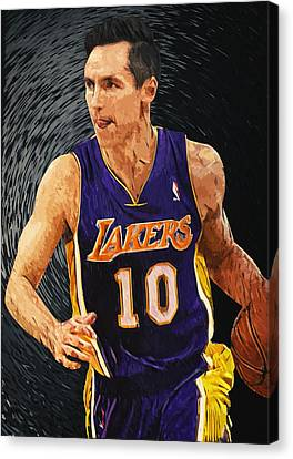 Steve Nash Canvas Print by Taylan Apukovska