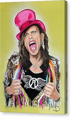 Steven Tyler 2 Canvas Print by Melanie D