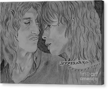 Steven Tyler And Joe Perry Image Pictures Canvas Print by Jeepee Aero