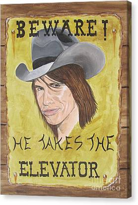 Steven Tyler As A Cowboy Canvas Print by Jeepee Aero