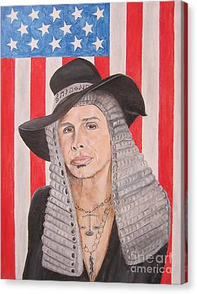 Steven Tyler As A Judge Painting Canvas Print by Jeepee Aero
