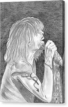 Steven Tyler Concert Drawing Canvas Print by Jeepee Aero