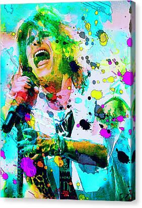 Steven Tyler Canvas Print by Rosalina Atanasova