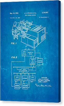 Stevens Data Storage Machine Patent Art 1964 Blueprint Canvas Print by Ian Monk