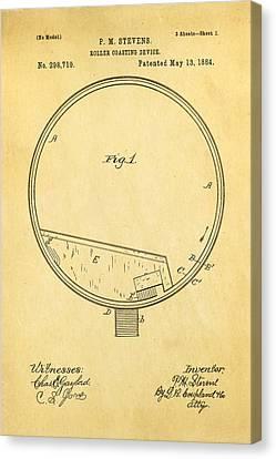 Stevens Roller Coaster Patent Art 1884 Canvas Print by Ian Monk