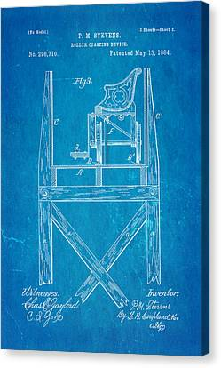 Stevens Roller Coaster Patent Art  3 1884 Blueprint Canvas Print by Ian Monk