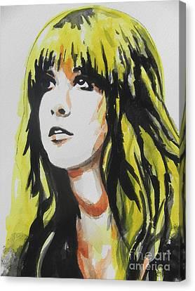Stevie Nicks 01 Canvas Print by Chrisann Ellis