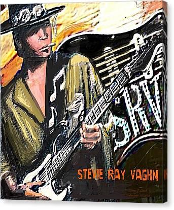 Stevie Ray Vaghn Canvas Print by Larry E Lamb