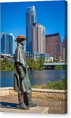Stevie Ray Vaughan Canvas Print by Inge Johnsson