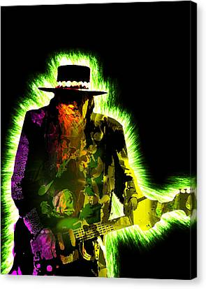 Stevie Ray Vaughan Canvas Print by Michael Lee