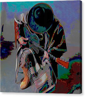 Stevie Ray Vaughan Srv Canvas Print by  Fli Art