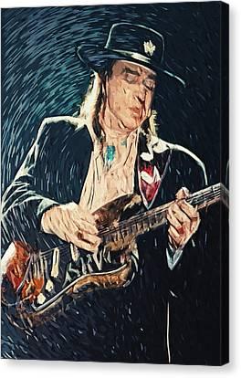 Stevie Ray Vaughan Canvas Print by Taylan Apukovska