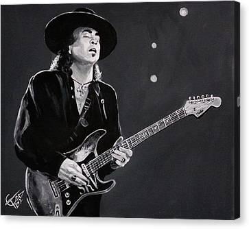 Stevie Ray Vaughan Canvas Print by Tom Carlton