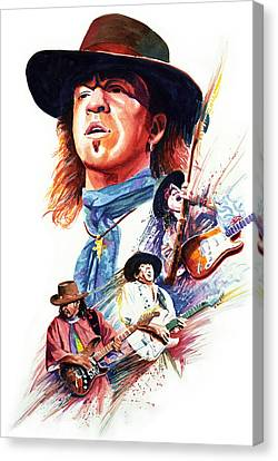 Stevie Ray Vaughn Canvas Print by Ken Meyer jr
