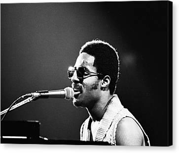 Stevie Wonder - Piano Man Canvas Print