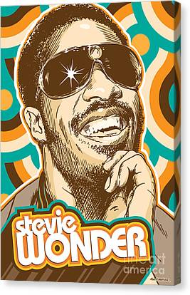 Rhythm And Blues Canvas Print - Stevie Wonder Pop Art by Jim Zahniser