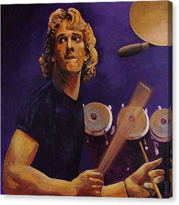 Stewart Copeland - The Police Canvas Print by John  Nolan
