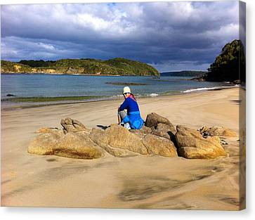 Stewart Island Golf Beach Canvas Print by Venetia Featherstone-Witty