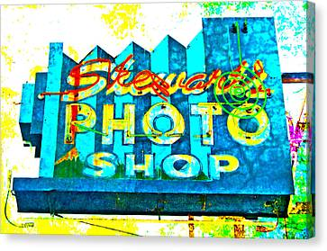 Stewart's Photo Shop Canvas Print by Gail Lawnicki