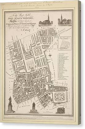 Stgiles And Stgeorge's Bloomsbury Canvas Print by British Library
