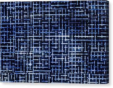 Stick Labyrinth Canvas Print by Hakon Soreide