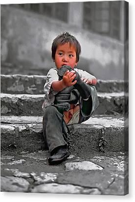 Tibetan Canvas Print - Sticky Boot by Steve Harrington