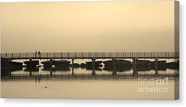 Canvas Print featuring the photograph Still Lake by Clare Bevan