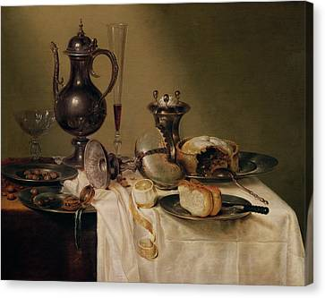 Still Life, 1642 Oil On Canvas Canvas Print by Willem Claesz. Heda