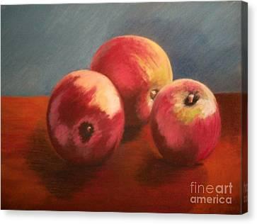 Still Life Apples Canvas Print