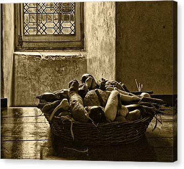 Still Life At Chenonceau Canvas Print by Nikolyn McDonald