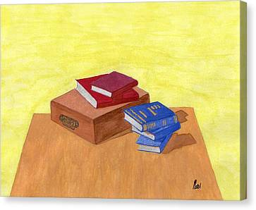 Still Life - Books Canvas Print by Bav Patel