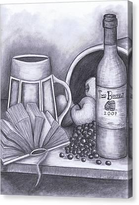 Still Life Drawing Canvas Print by Kamil Swiatek