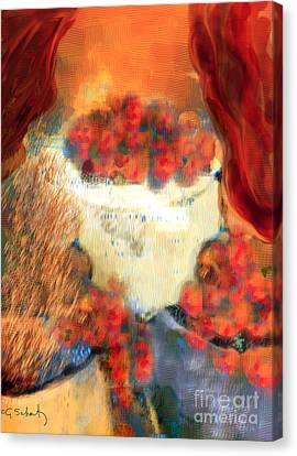Canvas Print featuring the digital art Still Life by Gabrielle Schertz