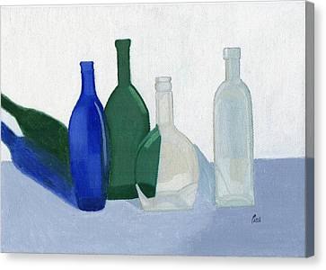 Still Life - Glass Bottles Canvas Print by Bav Patel