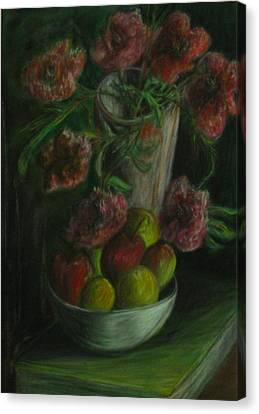 Still Life In A Dark Room Canvas Print by Michael Anthony Edwards