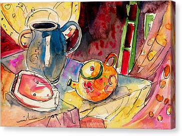 Still Life In Borgo In Italy 02 Canvas Print by Miki De Goodaboom