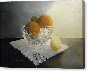 Still Life In Crystal Canvas Print by Lori Ippolito