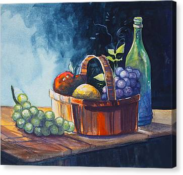 Still Life In Watercolours Canvas Print by Karon Melillo DeVega