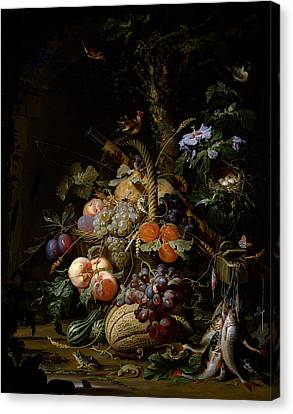 Still Life Of Fruit Canvas Print