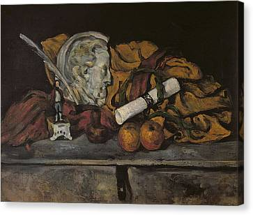 Apple Canvas Print - Still Life Of The Artists Accessories by Paul Cezanne
