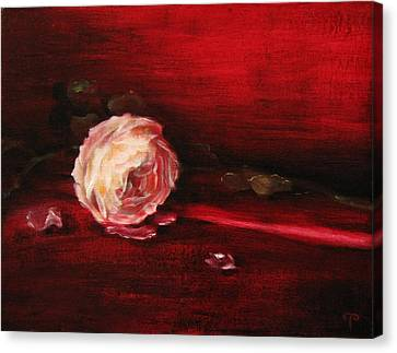 Still Life - Original Painting. Part Of A Diptych.  Canvas Print by Tanya Byrd