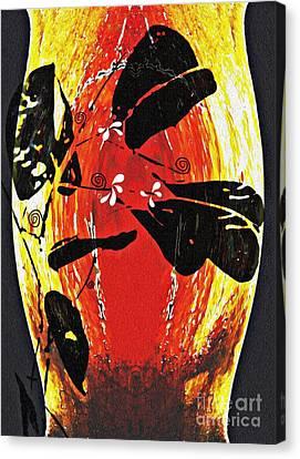 Interior Still Life Canvas Print - Still Life Outside The Vase by Sarah Loft