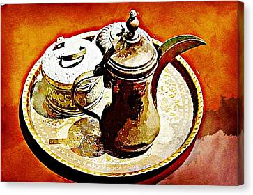 Coffee Time Canvas Print by Peter Waters